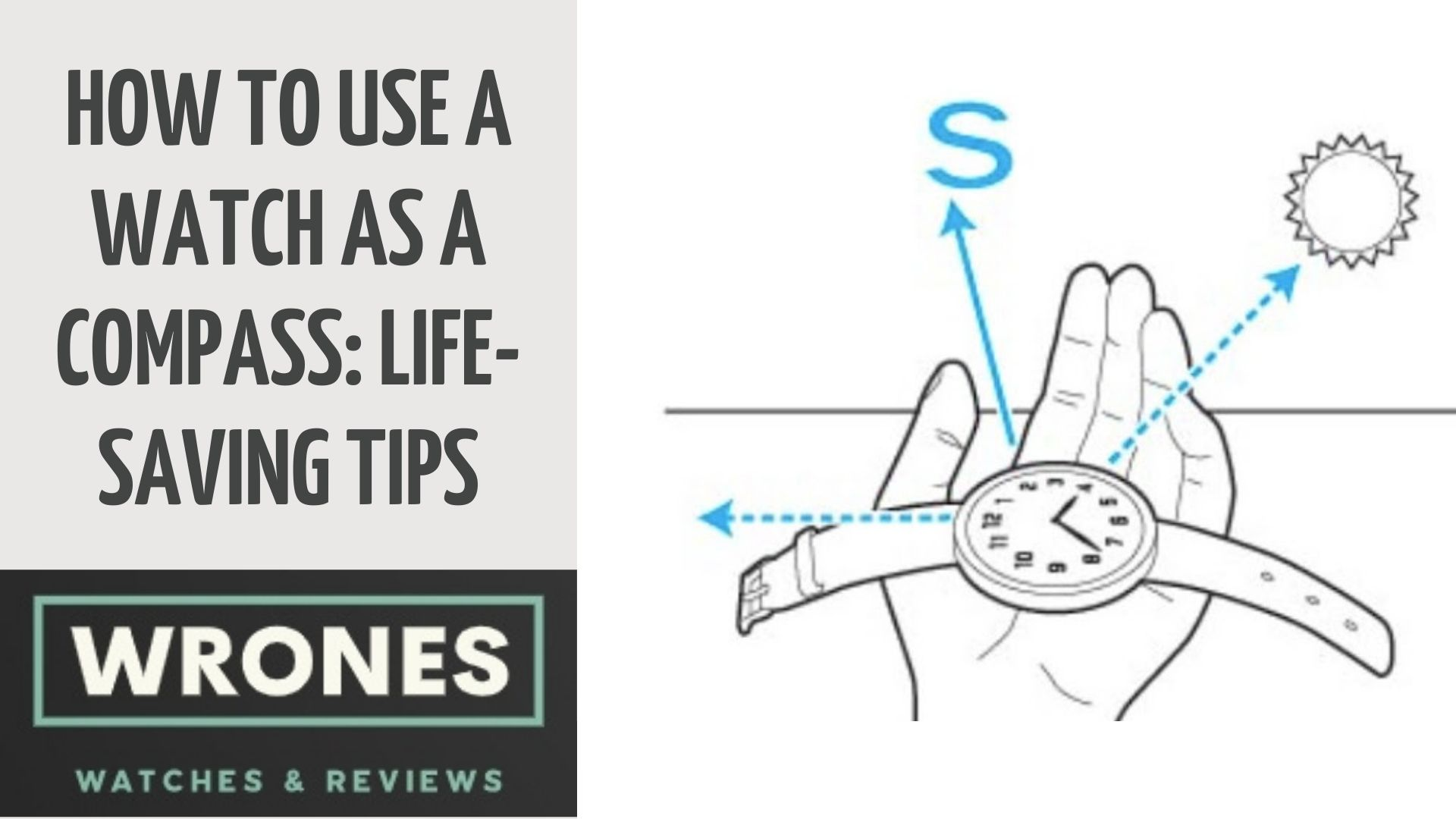 How to Use A Watch As A Compass Life Saving Tips wrones